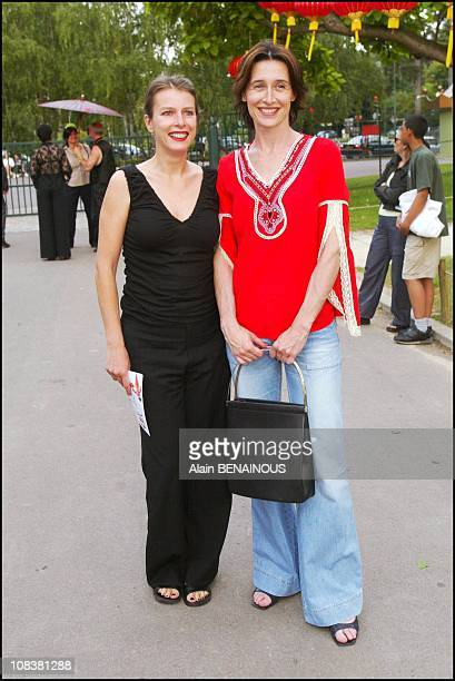 Karin Viart with Anne Brochet in Paris France on June 18 2002