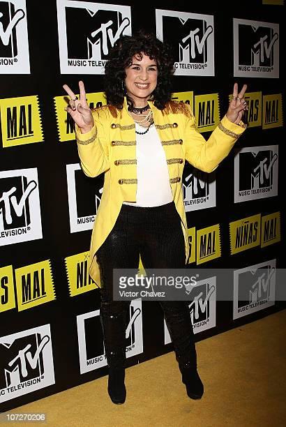 Karina attends the MTV Niñas Mal Soap Opera party at Ragga Antara Polanco on December 1 2010 in Mexico City Mexico