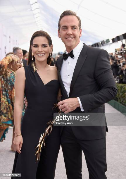 Karina Banda and Carlos Ponce attend the 25th Annual Screen ActorsGuild Awards at The Shrine Auditorium on January 27 2019 in Los Angeles California