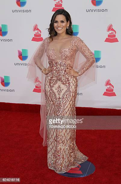 Karina Banda arrives for the 17th Annual Latin Grammy Awards on November 17 in Las Vegas Nevada / AFP / Tommaso Boddi