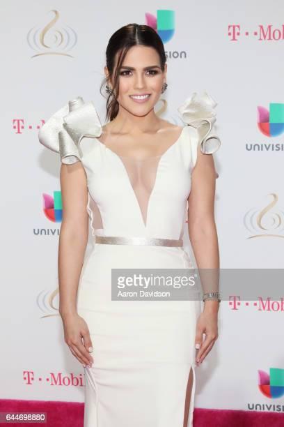 Karina Banda attends Univision's 29th Edition of Premio Lo Nuestro A La Musica Latina at the American Airlines Arena on February 23 2017 in Miami...