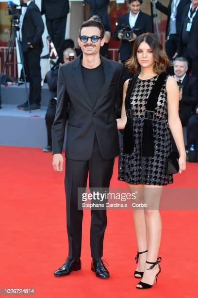 Karina Bezhenar and Fabio Rovazzi walks the red carpet ahead of the 'Vox Lux' screening during the 75th Venice Film Festival at Sala Grande on...