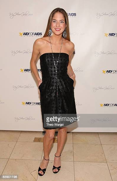 Karina CorreaMaury attends the Aid for Aids Internaltional 2008 My Hero Gala at Gustavinos on December 1 2008 in New York City