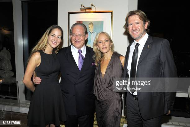 Karina CorreaMaury Dr William Haseltine Maria Eugenia Maury Arria and Manolo Lestre attend Aid for AIDS Planning Party for the 2010 MY HERO GALA at...