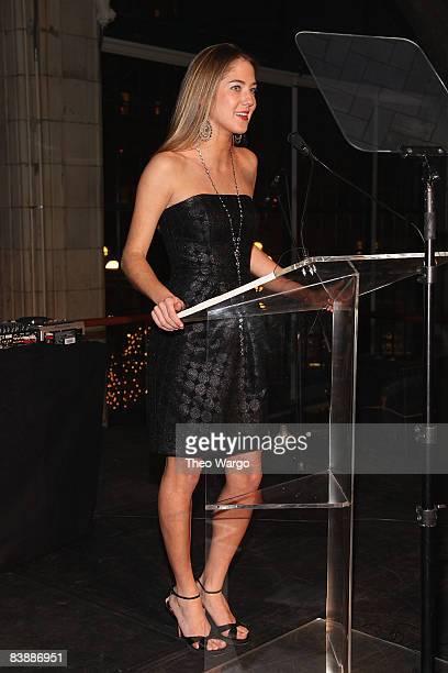 Karina CorreaMaury speaks at the Aid for Aids Internaltional 2008 My Hero Gala at Gustavinos on December 1 2008 in New York City