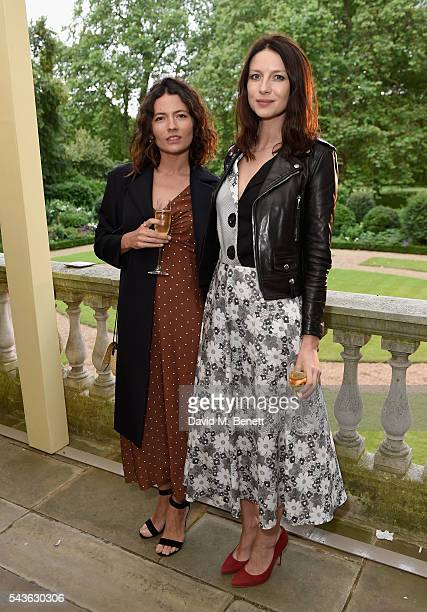 Karina Deyko and Caitriona Balfe attend the Creatures of the Wind Resort 2017 collection and runway show presented by Farfetch at Spencer House on...