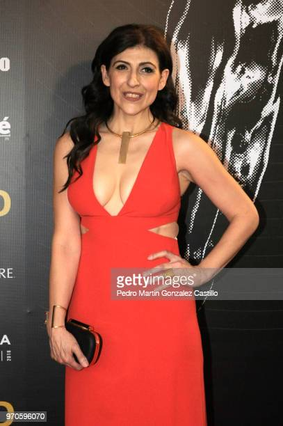 Karina Gidi poses during the Red Carpet of 60th Ariel Awards at Palacio de Bellas Artes on June 5 2018 in Mexico City Mexico