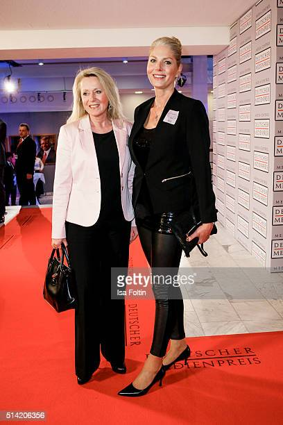 Karina Mross and guest attend the German Media Award 2016 on March 07 2016 in BadenBaden Germany