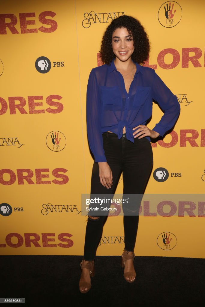 Karina Ortiz attends 'Dolores' New York Premiere at Metrograph on August 21, 2017 in New York City.