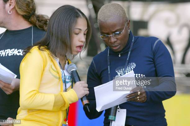 Karina Pasian and Angelique Kidjo during 'We Are The Future' Charity Concert Rehearsals Day 2 at Circus Maximus in Rome Italy