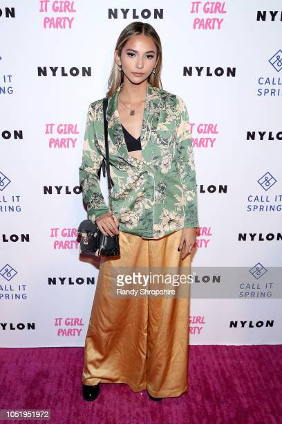 Karina Rae attends NYLON's annual It Girl Party sponsored by Call It Spring at Ace Hotel on October 11 2018 in Los Angeles California