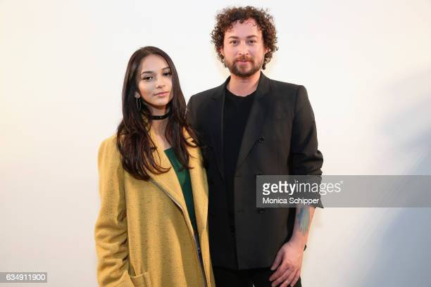 Karina Rae Marcel Ostertag attend the Marcel Ostertag collection during New York Fashion Week The Shows at Gallery 3 Skylight Clarkson Sq on February...