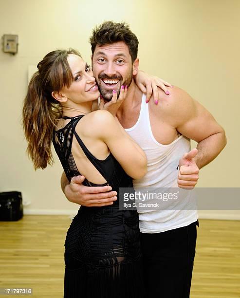 Karina Smirnoff and Maksim Chmerkovskiy rehearse for Forever Tango On Broadway on June 28 2013 in New York City