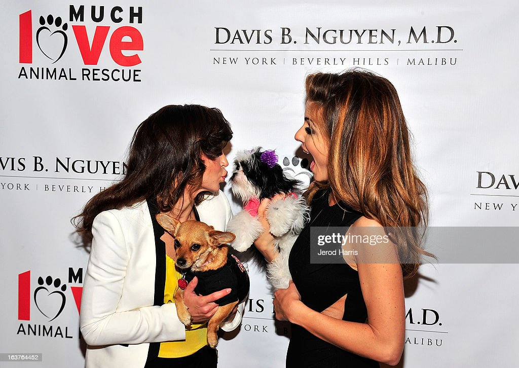 Karina Smirnoff and Maria Menounos arrive at Dr. Davis B. Nguyen and Much Love Animal Rescue host 'Makeover for Mutts'at The Peninsula Hotel at Peninsula Hotel on March 14, 2013 in Beverly Hills, California.