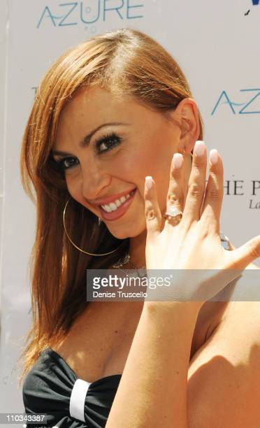 Karina Smirnoff arrives at AZURE Ultra Pool at The Venetian Hotel and Casino Resort on July 4 2009 in Las Vegas Nevada