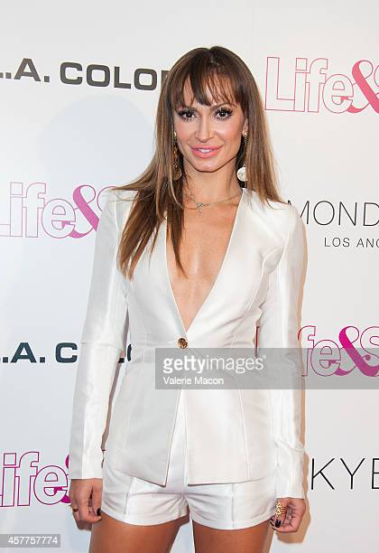 Karina Smirnoff arrives at Life Style Weekly 10 Year Anniversary Party at SkyBar at the Mondrian Los Angeles on October 23 2014 in West Hollywood...