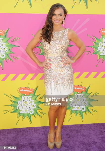 Karina Smirnoff arrives at Nickelodeon's 26th Annual Kids' Choice Awards at USC Galen Center on March 23 2013 in Los Angeles California