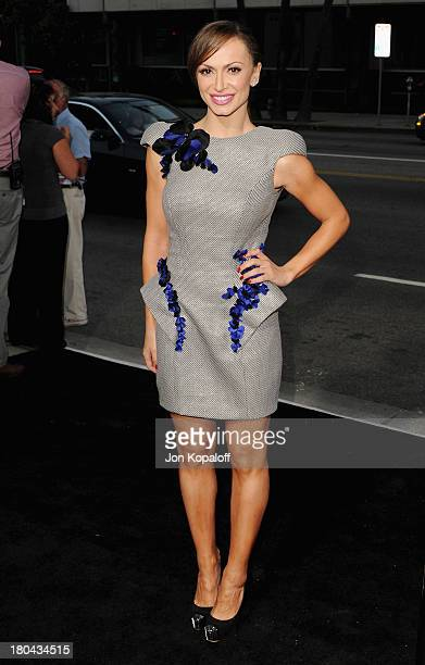 Karina Smirnoff arrives at the Los Angeles Premiere Prisoners at the Academy of Motion Picture Arts and Sciences on September 12 2013 in Beverly...