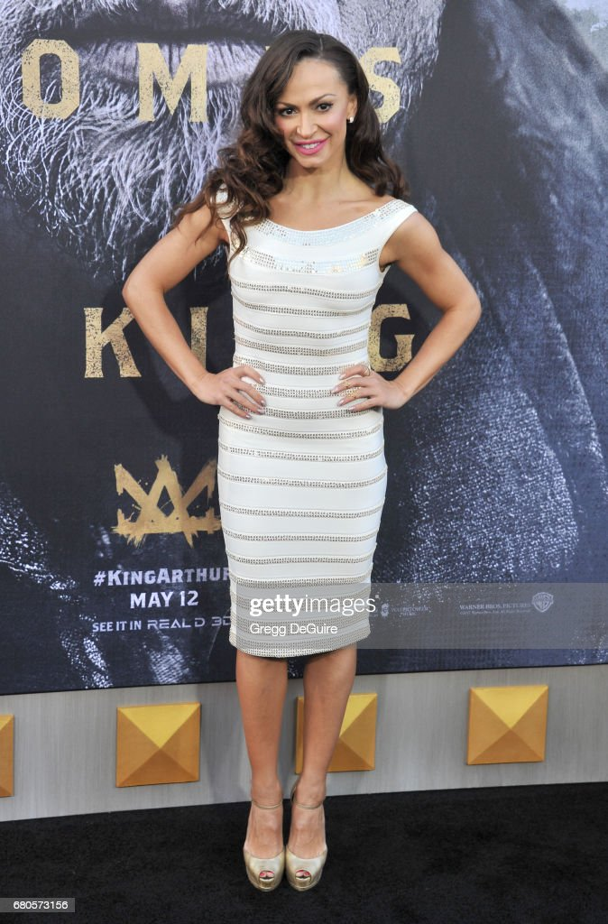 Karina Smirnoff arrives at the premiere of Warner Bros. Pictures' 'King Arthur: Legend Of The Sword' at TCL Chinese Theatre on May 8, 2017 in Hollywood, California.