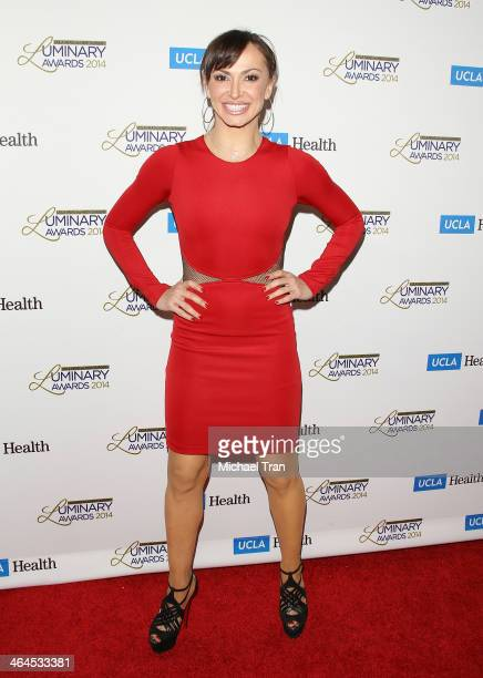 Karina Smirnoff arrives at the UCLA Head Neck Surgery Luminary Awards held at Regent Beverly Wilshire Hotel on January 22 2014 in Beverly Hills...
