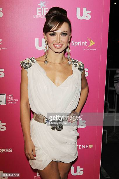 Karina Smirnoff arrives at the Us Weekly's Hot Hollywood party held at The Colony on November 18 2010 in Los Angeles California