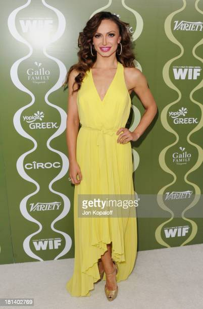 Karina Smirnoff arrives at the Variety And Women In Film Pre-Emmy Party at Scarpetta on September 20, 2013 in Beverly Hills, California.