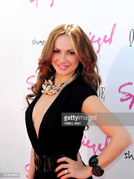 Karina Smirnoff attends Spiegel Swim and Travel Launch Party at Gansevoort South on March 13 2011 in Miami Beach Florida