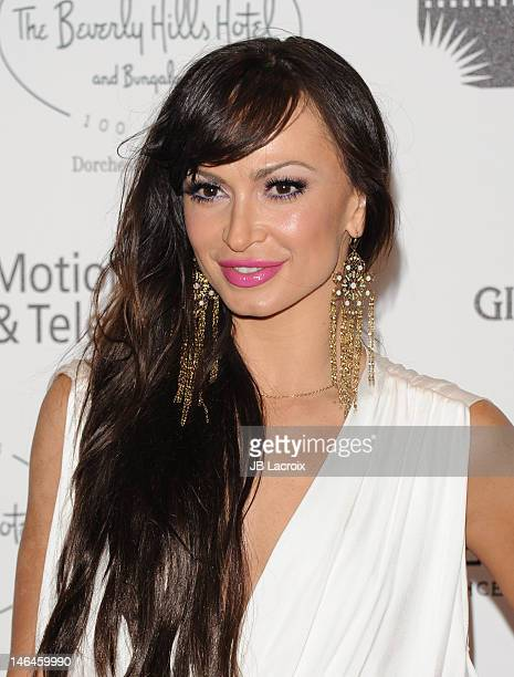 Karina Smirnoff attends the 100th anniversary celebration of the Beverly Hills Hotel Bungalows supporting the Motion Picture Television Fund and the...