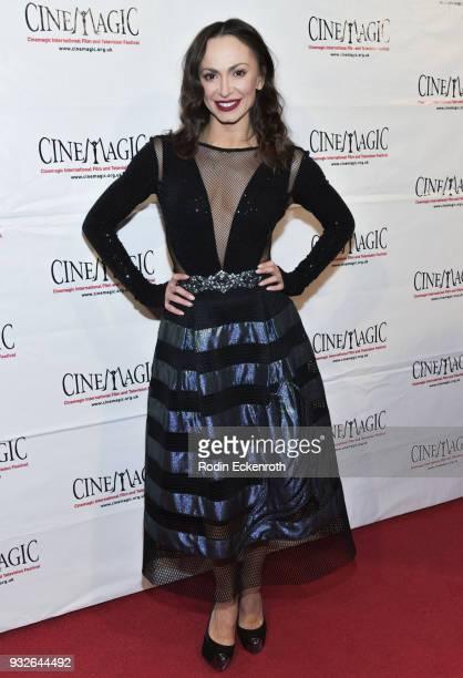 Karina Smirnoff attends the Cinemagic Annual Gala at The Fairmont Miramar Hotel Bungalows on March 15 2018 in Santa Monica California