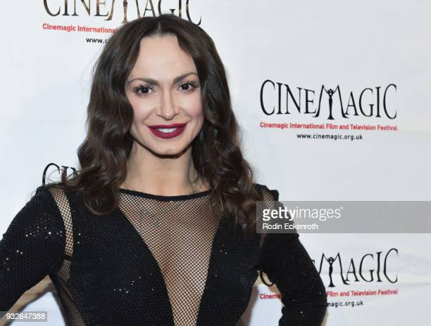 Karina Smirnoff attends the Cinemagic Annual Gala at The Fairmont Miramar Hotel Bungalows on March 15 2018 in Santa Monica California