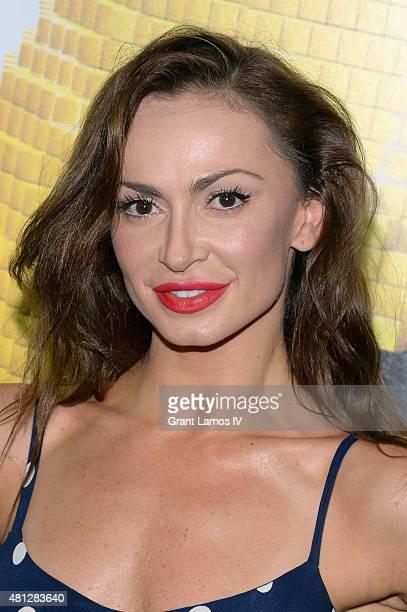 Karina Smirnoff attends the Pixels New York Premiere at Regal EWalk on July 18 2015 in New York City