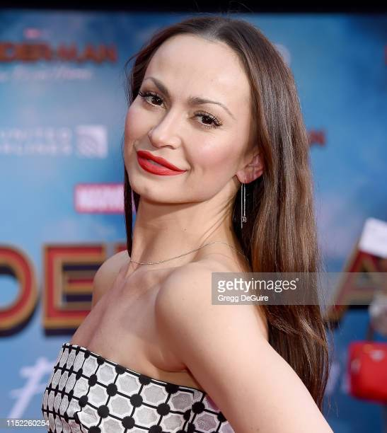 Karina Smirnoff attends the premiere of Sony Pictures' SpiderMan Far From Home at TCL Chinese Theatre on June 26 2019 in Hollywood California