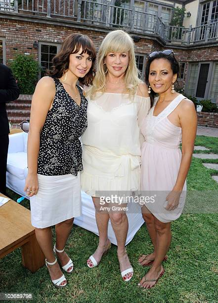 Karina Smirnoff Daphna Ziman and Anita Thompson attend the BellaStyle Garden Event on August 27 2010 in Los Angeles California