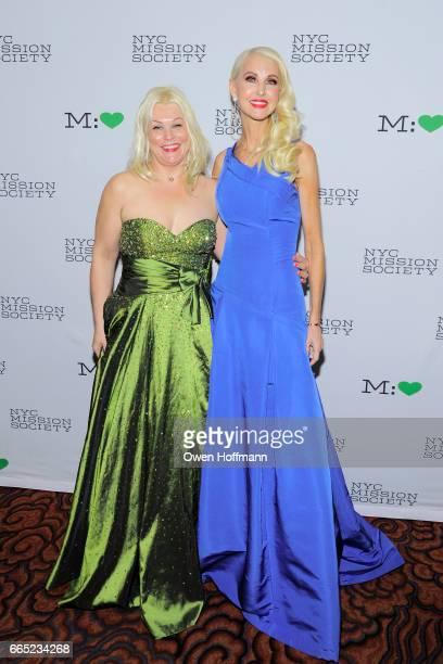 Karina Tatrski and Katrina Peebles attend 2017 Champion For Children Gala at Mandarin Oriental on April 5 2017 in New York City