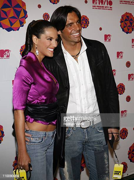 Karina Velasco with guest during MTV Video Music Awards Latin America 2006 - Red Carpet at Palacio de los Deportes in Mexico City, Mexico.