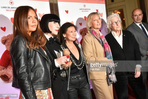 Karine Arsene Chantal Thomass Jeanne D Hauteserre minister Sophie Cluzel and professor Francine Leca attend the Gala du CÏur Auction Concert To...