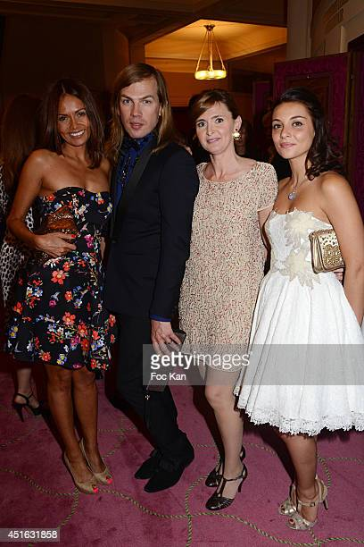 Karine Arsene Christophe Guillarme Annabelle Milot and Priscilla Betti attend the '20th Amnesty International France' Gala At Theatre Des champs...