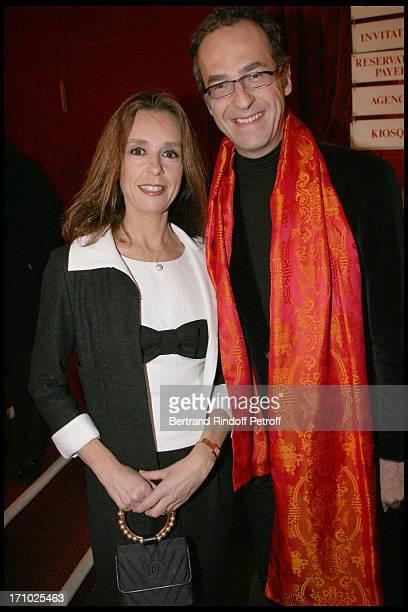 Karine Averty, Emmanuel De Brantes at The Paris Production Of The Show Une Comedie Romantique At The Theatre Montparnasse In Aid Of L'Aprec.