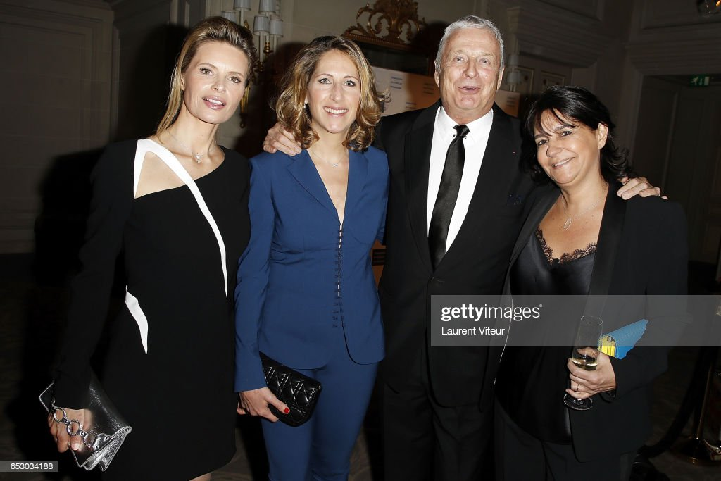 Karine Courtin-Clarins, Maud Fontenoy, Christian Courtin-Clarins and Valerie Expert attend 'La Recherche en Physiologie' Charity Gala at Four Seasons Hotel George V on March 13, 2017 in Paris, France.