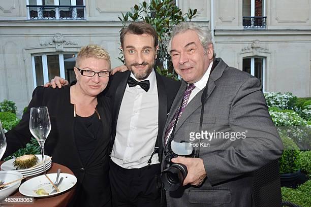 Karine Croyal director Renaud Duval and photographer Alain Robert attend 'La Route Des Saveurs Les Secrets Des Grands Chefs Etoiles' Nadine Rodd's...