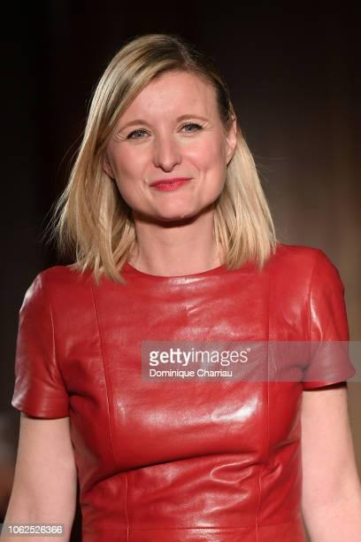 "Karine de Menonville attends the ""Sauvez Le Coeur Des Femmes - Red Defile"" Show At Hotel Marrriot In Paris on November 16, 2018 in Paris, France."