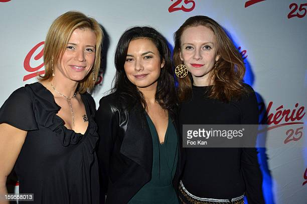Karine Duchochois Anais Baydemir and Sophie Brafman attend the Cherie 25 NRJ Party at VIP Room Theatre on January 15 2013 in Paris France