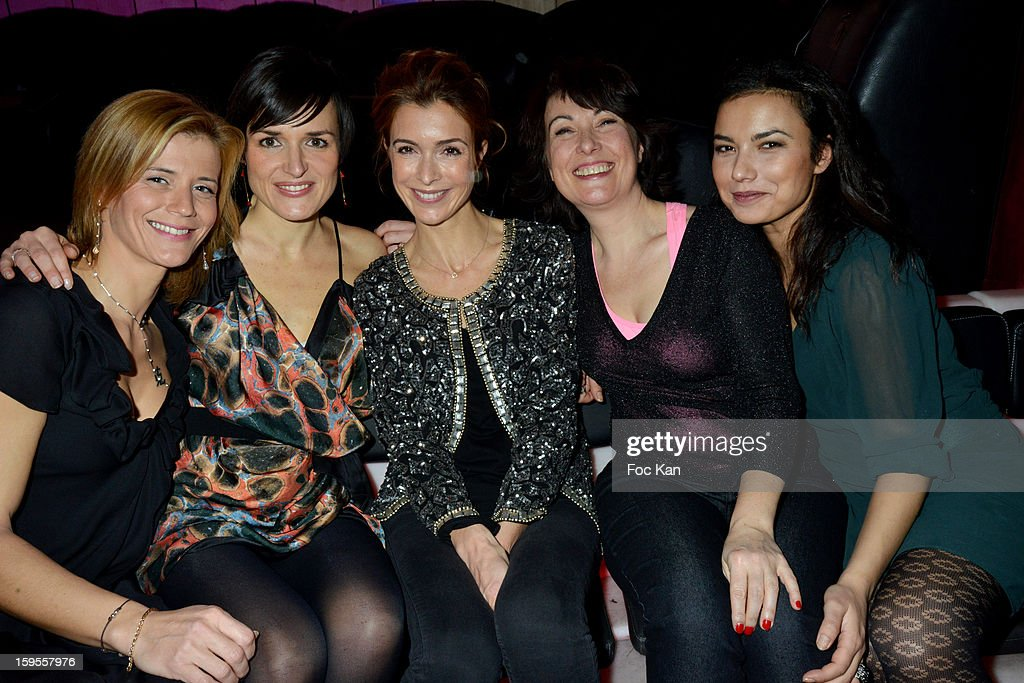 Karine Duchochois, Julienne Bertaux, Veronique Mounier, Isabelle Motrot and Anais Baydemir attend the Cherie 25 NRJ Party at VIP Room Theater on January 15, 2013 in Paris, France.