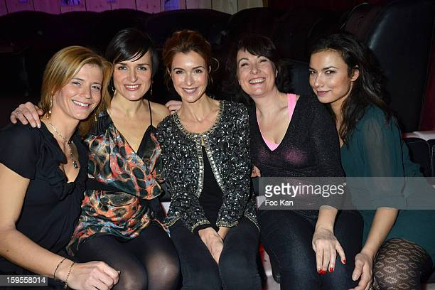 Karine Duchochois Julienne Bertaux Veronique Mounier Isabelle Motrot and Anais Baydemir attend the Cherie 25 NRJ Party at VIP Room Theater on January...