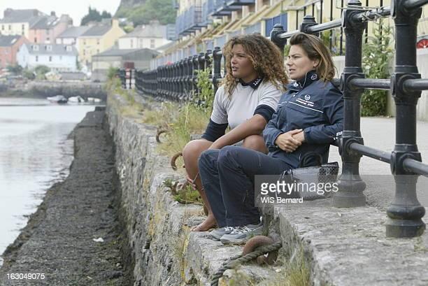 Karine Fauconnier And Marie Tabarly. Karine, 32 ans, la fille du navigateur Yvon FAUCONNIER participe à la course 'The Transat' reliant Plymouth, en...