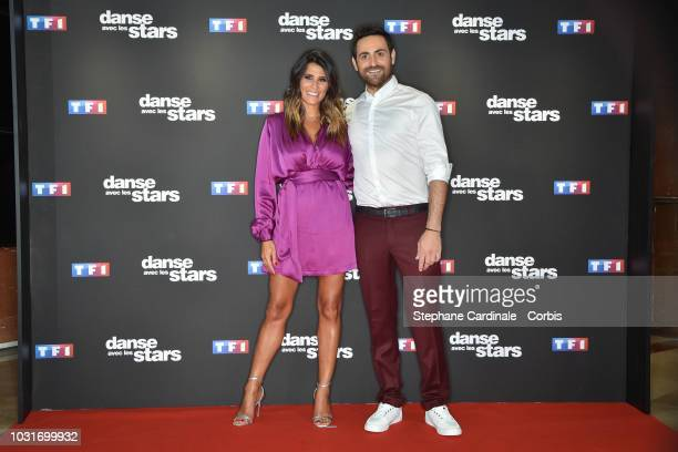 Karine Ferri and Camille Combal attend the 'Danse Avec Les Stars 2018' Photocall At TF1 on September 11 2018 in Paris France