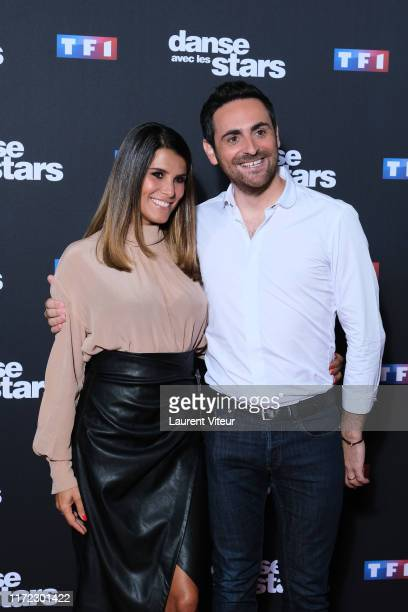 Karine Ferri and Camille Combal attend the Danse Avec Les Stars Photocall At TF1 on September 04 2019 in BoulogneBillancourt France