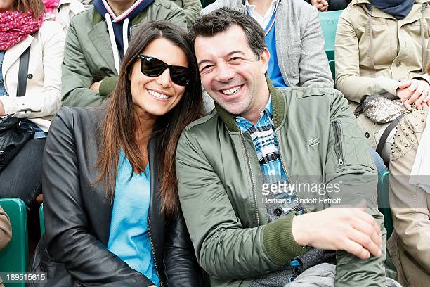 Karine Ferri and Stephane Plaza attend Roland Garros Tennis French Open 2013 Day 1 on May 26 2013 in Paris France