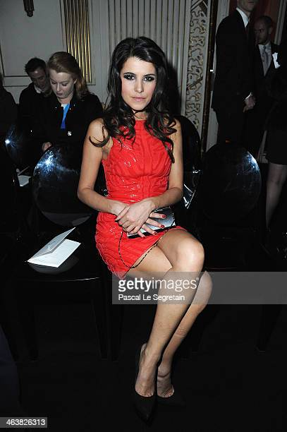 Karine Ferri attends the Atelier Versace show as part of Paris Fashion Week Haute Couture Spring/Summer 2014 on January 19 2014 in Paris France