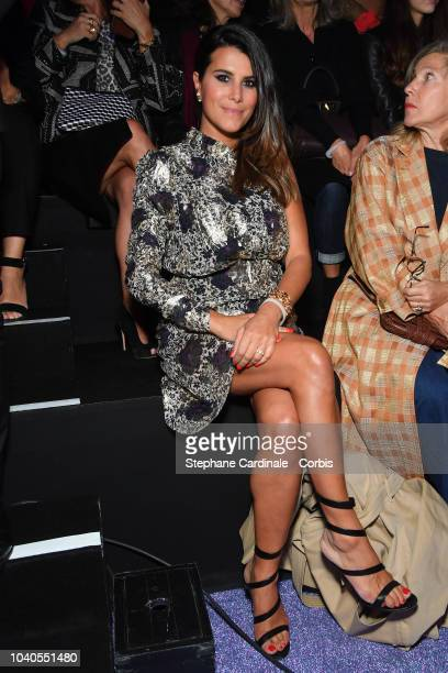 Karine Ferri attends the ETAM show as part of the Paris Fashion Week Womenswear Spring/Summer 2019 on September 25 2018 in Paris France